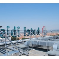 Rooftop cu litere volumetrice - Hotel IBIS Sibiu