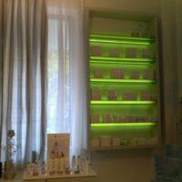 Rafturi plexi iluminare LED