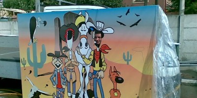 Panou Lucky Luke on work
