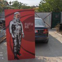 Panou astronaut on work