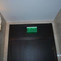 2. Aplica plexi cu bec LED cald si prolight evacuare LED verde - Hotel Epoque Bucuresti