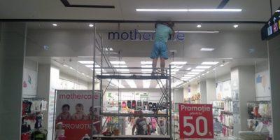 Litere volumetrice Mothercare - City Park Mall-Constanta-instalare (1)