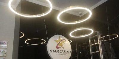 Star Casino Bucuresti pendule inele alama si iluminare LED (3)